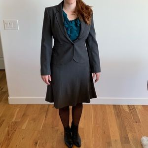 Calvin Klein gray suit set with skirt